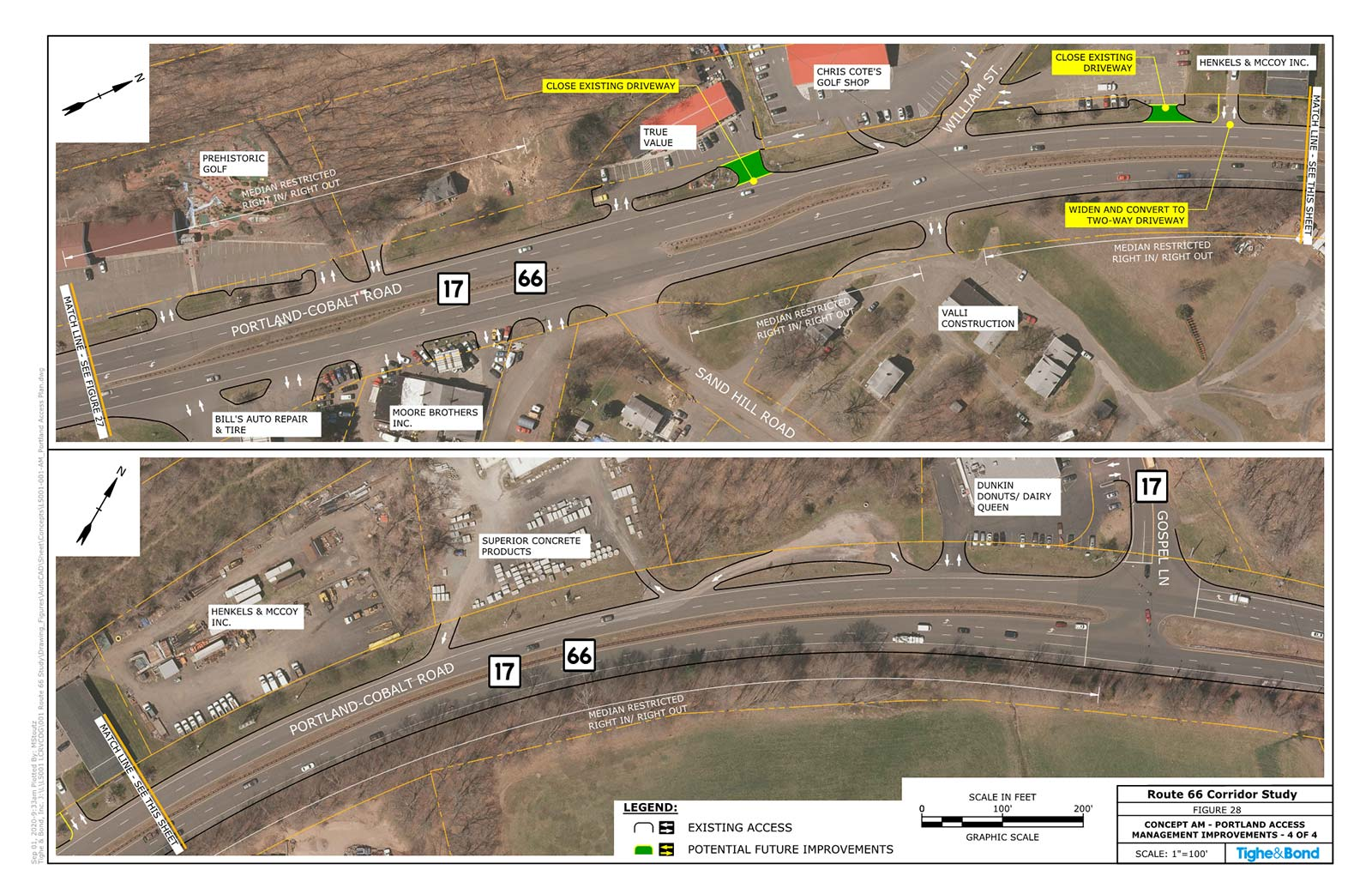 Access Management Policy (Plans AM). Route 66 Transportation Study, Portland and East Hampton, CT.