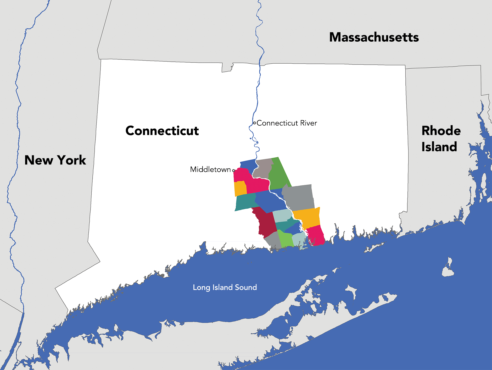 Connecticut River Valley Region Map